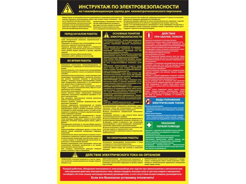 Инструкция для проведения инструктажа по электробезопасности для неэлектротехнического персонала книга по электробезопасности 2 группа